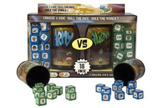 Test gaming skills in a fast-paced game of dice combat. Either defend earth from the aliens or lead the alien army! By combining strategy, cunning and luck, players must outsmart their opponent in order to win. Alien Games, Dice Games, Holiday Gift Guide, Holiday Gifts, Bored Games, Award Display, Tabletop Games, Aliens, Army