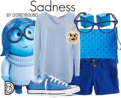 Your Sadness will melt away when you wear this adorable Inside Out outfit. | fashion | outfits | disneyland outfits | disney world outfits | disney fashion outfits | disneybound | disneybound outfits | disney outfits | disney outfit ideas |