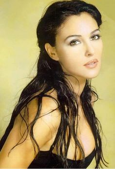 Monica Bellucci ... I truly believe she is one of the most strikingly beautiful women on earth. Flawless.