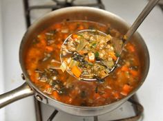 Hearty Escarole, Barley, and Parmesan Soup