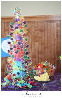 Lollipop tree, party game, Willy Wonka Birthday, 2nd birthday | Robinwoodphoto.com