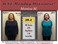 Take a look at our #MondayMotivator client, Monica M. Thank you for allowing us to share your awesome results! Keep up the great work! #WeightLoss #Over30lbsLost #AndCounting #StillGoing #Motivation #YouCanDoItToo #WeightNoLongerLLC #WNL #Healthy #HealthyLife