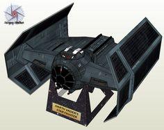 Noturno Sukhoi: Tie Advanced x1_Darth Vader's Star Fighter Papercraft