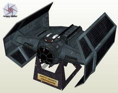 Noturno Sukhoi: Tie Advanced x1_Darth Vader's Star Fighter Papercraft