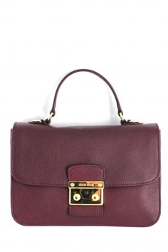 74c15fd70aa miu miu bag in burgundy red ribes leather. The bag is used as handbag or as shoulder  bag with one handle and one removable strap.