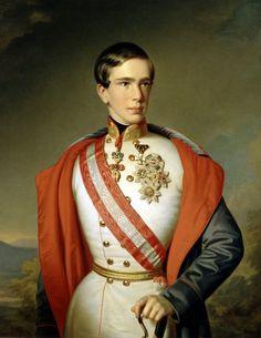 Emperor Franz Joseph as a young man in 1851.  He married Elizabeth in 1854.