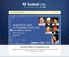 Facebook Talks Live with the leading prime minister candidates for the Indian election