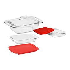Pyrex® Easy Grab™ Glass Bakeware with Lids