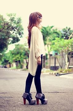 Cute outfit, shoes are perfect.