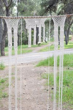 Macrame curtain / wall hanging / wedding backdrop with fine