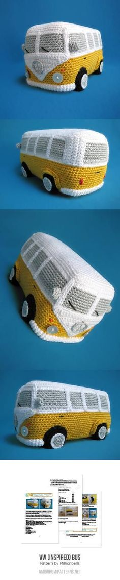 VW (Inspired) Bus amigurumi pattern by Millionbells
