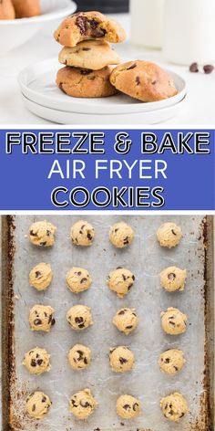 Pop a couple in the air fryer for fresh baked cookies, anytime! Frozen Cookie Dough, Frozen Cookies, Double Chocolate Chip Cookies, Chocolate Chips, Family Fresh Meals, Family Recipes, Cookie Recipes, Dessert Recipes, Easy Summer Desserts