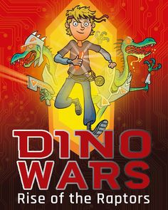 For the last days of #Dinovember it's the cover reveal for DINO WARS book one- Rise of the Raptors! New series from Dan Metcalf and Maverick Books. Published April 2018 - #dinosaurs #illustration #kidlitart #cartoon  #dinovember2017 #coverart  #future #scifi #velociraptor #bookstagram