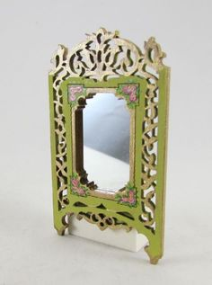 Fretwork design wall mirror | Dolls House Miniatures