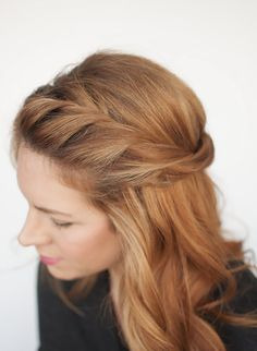 Add a loose twist to your hair for a romantic look.