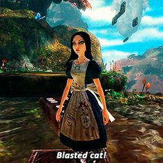 gifs mine alice Cheshire Cat Alice: Madness Returns alice liddell - i love this Adventures In Wonderland, Alice In Wonderland, Vampire Masquerade, Alice Liddell, Alice Madness Returns, Video Games Girls, Were All Mad Here, Cheshire Cat, Disney Inspired