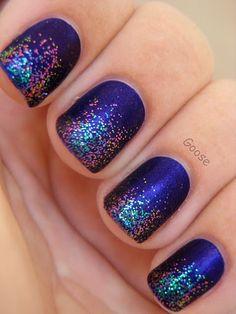 Cute and Cool Nail Art Designs Ideas: Glitter Nail Polish