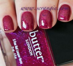 Scrangie: Butter London Holiday 2012 Nail Lacquer Collection Swatches and Review