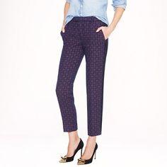 J.Crew - Collection printed tweed tuxedo pant