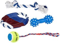 Trixie 3499 Sun'n'Fun Toy Set for Dogs Pack of 4 -- See this great product. (This is an affiliate link) Dog Items, Mans World, Cool Toys, Pet Dogs, Dog Lovers, Kids Rugs, Accessories, Fun, Trixie