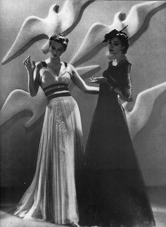 For Harper's Bazaar, featuring gowns by Chanel 1937