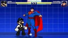 Superman VS Mario In A MUGEN Match / Battle / Fight This video showcases Gameplay of Superman VS Mario In A MUGEN Match / Battle / Fight