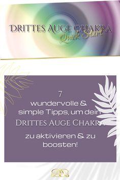 Nutze folgende einfache Alltags-Übungen & Tipps, um dein Chakra zu aktivieren & zu boosten! Ich habe dir auch eine wundervolle geführte Meditation dazu gepackt! #12chakren #chakra #chakras #12chakras #meinechakren #chakraboosten #drittesaugechakra Coaching, Yoga, Movie Posters, Graz, Third Eye Chakra, Chakras, Spiritual, Tips, Training