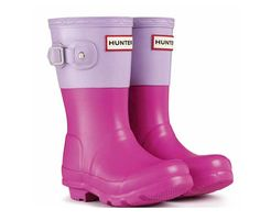 Hunter Colorblock kids' boots. Love this combo!