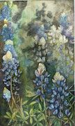 """Watercolor painting """"Bluebonnet Blessing"""" by Karen Kennedy Chatham"""