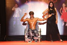 The stage was fulfilled with the colors of enthusiasm when our superstars modeled in the wheelchair round! Wheelchair is just a source to vindicate, their determination drives them!! #Divya2018 #Surat #Wheelchair #TalentOnWheelchair