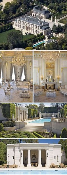 Fleur De Lys, Beverly Hills – Mariah Carey's palace - my next house. Exterior Design, Interior And Exterior, Luxury Interior, Extravagant Homes, New York Penthouse, Luxury Penthouse, Expensive Houses, Celebrity Houses, Big Houses