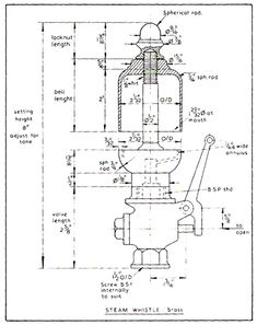 Steam Whistle Drawings - Home Model Engine Machinist