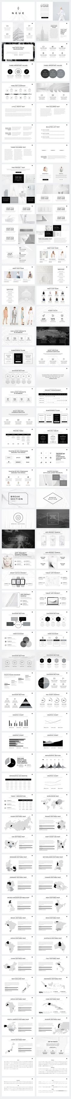 Neue Minimal Keynote Template has a basic clean layout which will help your content stand out. The slides are effective but rather simple in terms of graphic design. Design Web, Slide Design, Layout Design, Keynote Design, Brochure Design, Brochure Ideas, Booklet Design, Brochure Layout, Design Presentation