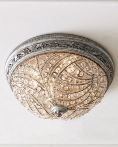 """""""Renaissance"""" Flush Ceiling Fixture at Horchow. $538. If you're going to have a """"boob"""" light, this is the light to have in your home!!"""