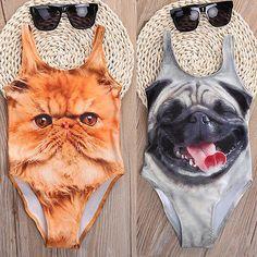 Cute Animal Girls Kids One-piece Swimming Swimwear Bathing Suit Swimsuit Costume