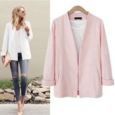 New Design Casual Women Jacket Solid Long Sleeve Women Basic Coats Sweet V-Neck Flax Cardigan Tops Chaquetas Mujer J34 CC #Affiliate