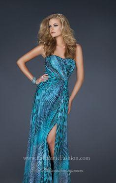 la femme prom dresses 2014 | ... Long Empire Split Front Prom/evening/formal Dresses La Femme 17169