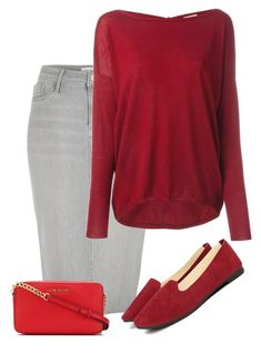 """""""Redd"""" by ohraee019 ❤ liked on Polyvore featuring River Island, P.A.R.O.S.H. and MICHAEL Michael Kors"""