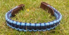 Hand crafted paracord Browband for Horse or Pony Bridle. Hand Stitched English Leather trim. 3/4 inch wide and can be made to any length.