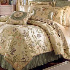Iris Floral Comforter Bedding by Croscill