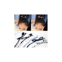 Bow Hair Bun Maker ($9.52) ❤ liked on Polyvore featuring beauty products, haircare, hair styling tools, accessories and wig