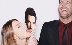 Tom Ellis' Birthday Countdown by DailyTomEllis | November 6th. ↳ Favorite Friendship (celebrity/cast-mate or otherwise): Lauren German.