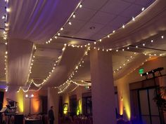 Ceiling Fabric and Lighting