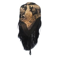 Art Deco Black and Gold Lame Shawl   From a collection of rare vintage coats and outerwear at http://www.1stdibs.com/fashion/clothing/coats-outerwear/