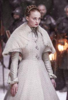 Sansa en su boda con Ramsay Bolton...qué triste novia y qué horrible enlace!!!, pero el Norte no olvida.
