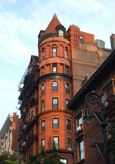 Building with a Turret in Brooklyn Heights.  NEW YORK CITY.  (Flickr - Photo Sharing!)