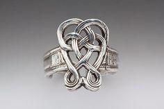 Silver Spoon Celtic Adjustable Spoon Ring