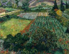 """Fields with poppies"" (Saint-Rémy. June 1889) [F581] By Vincent van Gogh (Dutch, 1853-1890) oil on canvas; 71 x 91 cm  © Kunsthalle Bremen, Bremen, Germany http://www.kunsthalle-bremen.de/ https://www.facebook.com/KunsthalleBremen"