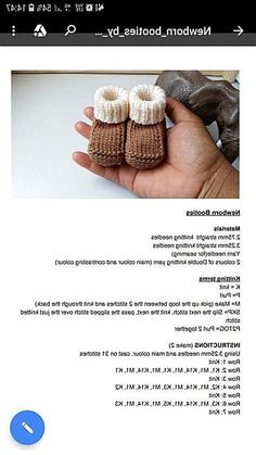 Free Baby Slippers Pattern You Can Check Pattern Below Dimensions About Cm - Crochet Brazil - Diy Crafts - Potitoo - Diy Crafts Baby Booties Free Pattern, Baby Hat Patterns, Knit Baby Booties, Easy Knitting Patterns, Diy Crafts Images, Diy Crafts Love, Pinterest Diy Crafts, Baby Bootees, Diy Crafts Knitting