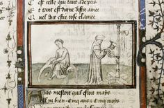 """via @sarahlaseke """"Getting ready in the morning (MS. Douce 371, f.1r)"""""""